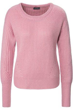 Mybc Damen Pullover - Rundhals-Pullover in kurzem Style lila