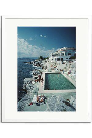 Sonic Editions Herren Caps - Framed Slim Aarons Pool Hotel Du Cap Eden Roc