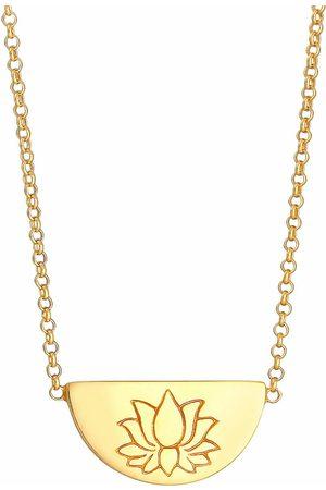 Elli Damen Halsketten - Halskette Lotusblüte Talisman Symbol Anhänger 925 Silber in , Schmuck für Damen