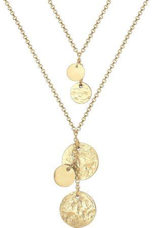 Elli PREMIUM Halskette Layer Erbskette Plättchen Anhänger 925 Silber in , Schmuck für Damen