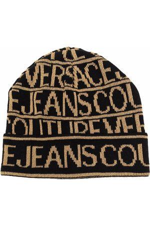 VERSACE Damen Hüte - Gerippte Strickmütze mit Logo
