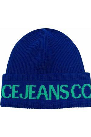 Versace Jeans Couture Gerippte Strickmütze mit Logo