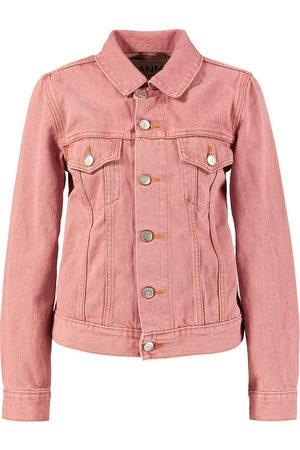 Ganni Klassische Jeansjacke Pink