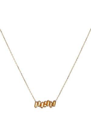 Suzanne Kalan Halskette aus 14kt Gelbgold mit Zitrinen