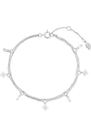 LEAF Armband Bracelet Crystal Sterlingsilver silver