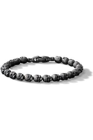 David Yurman Spiritual Beads Armband mit Totenköpfen