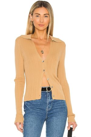 Vince Ribbed Polo Cardigan in . Size S, XS, M.