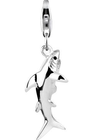 Nenalina Charm Anhänger Hai Fisch Meer 925 Sterling in , Schmuck für Damen