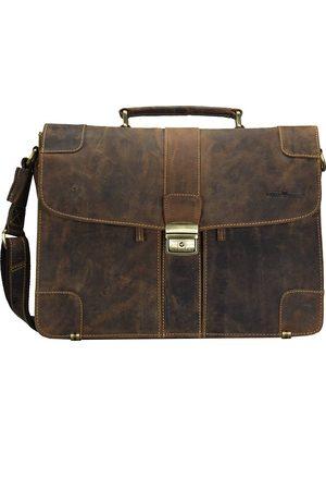 Greenburry Vintage Aktentasche Leder 38.5 Cm in mittelbraun, Businesstaschen für Damen