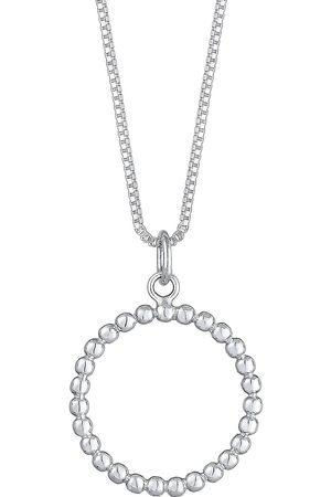 Elli Halskette Box Chain Kreis Anhänger Geo Basic 925 in , Schmuck für Damen