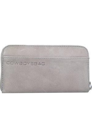 Cowboysbag The Purse Geldbörse Leder 19,5 Cm in mittelgrau, Geldbörsen für Damen