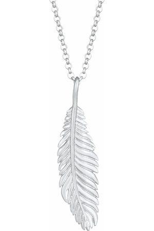Kuzzoi Halskette Herren Basic Casual Feder Anhänger 925 Silber in , für Herren