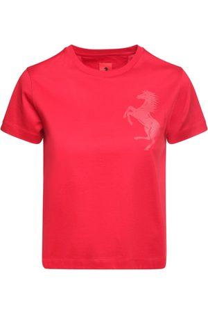 FERRARI STORE T-shirt Aus Baumwolljersey Mit Logo