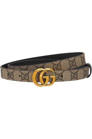 "Gucci Damen Gürtel - Wendbarer, Dünner Ledergürtel ""gg Marmont"""