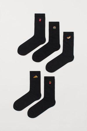 H&M 5er-Pack Socken mit Stickerei