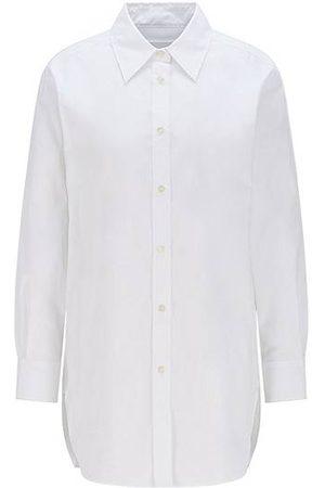HUGO BOSS Damen Blusen - Long-length relaxed-fit blouse in organic cotton