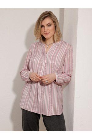 m. collection Damen Blusen - Hemdbluse in grafischem Streifendesign