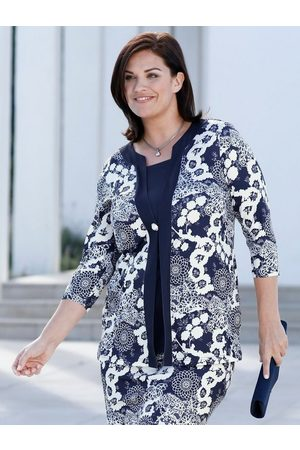 m. collection Damen T-Shirts, Polos & Longsleeves - 3/4-Arm-Shirt mit Spitzendruck