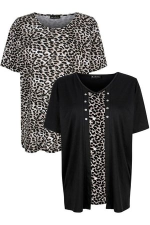 m. collection Damen T-Shirts, Polos & Longsleeves - T-Shirt im 2er-Pack mit Leomuster