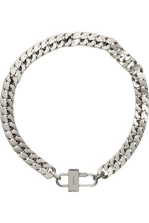 Givenchy Silver Small G Chain Lock Necklace
