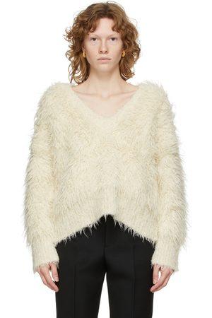 Bottega Veneta Off-White Alpaca Shag Sweater
