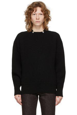 Bottega Veneta Black Shetland Wool Ring Sweater