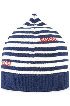 Gucci Gestreifte Mütze mit Logo-Intarsie