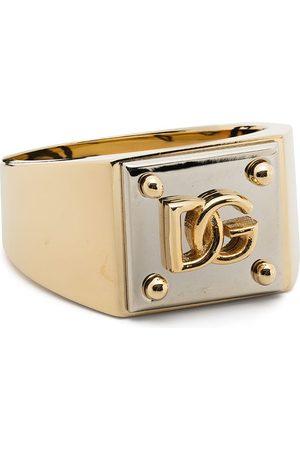 Dolce & Gabbana Herren Ringe - Zweifarbiger Ring mit Logo