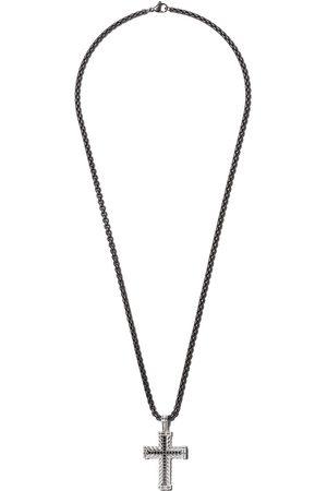 David Yurman Herren Halsketten - Silberhalskette mit Diamanten