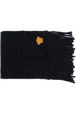 Versace Bestickter Schal mit Fransen