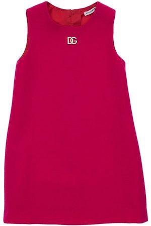 DOLCE & GABBANA Mädchen Ärmellose Kleider - Ärmelloses Wollkleid Mit Logo