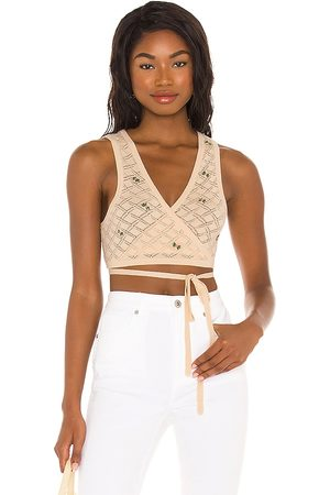 LPA Daphne Embroidered Wrap Top in . Size XS, S, M.