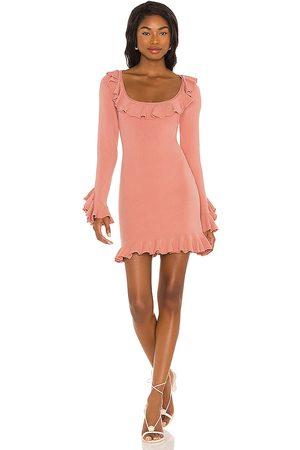 LPA Ruffle Sweater Dress in . Size XXS, XS, S, M, XL.