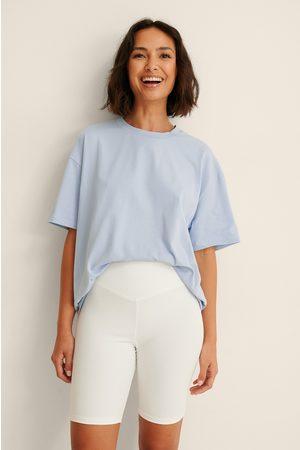 NA-KD Damen Shorts - Basic Biker-Shorts - White