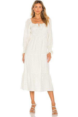 FAITHFULL THE BRAND Dariya Midi Dress in . Size XS, S, M, XL.