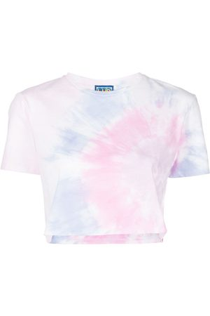 LHD Damen T-Shirts, Polos & Longsleeves - Cropped-T-Shirt mit Batikmuster