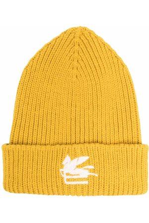 ETRO Gestrickte Mütze mit Logo-Patch