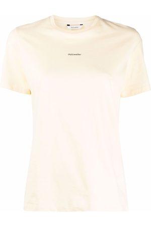 Holzweiler T-Shirt mit Logo-Print