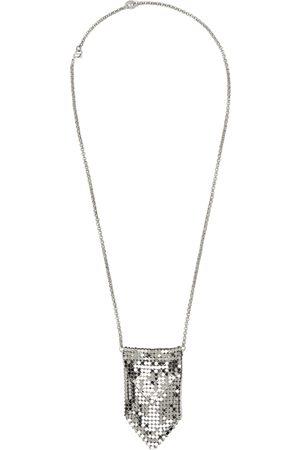 Paco rabanne Silver Pixel Pendant Necklace