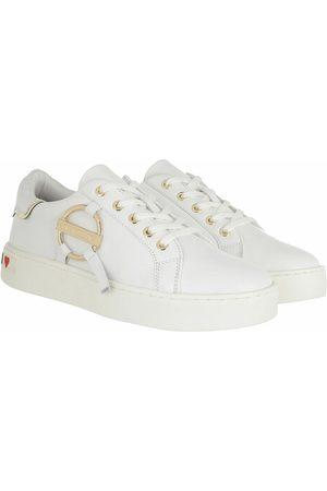 Love Moschino Damen Sneakers - Sneakers Sneakers Cassetta 35 Vitello weiß