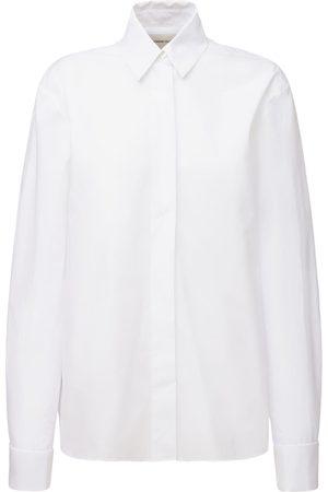 ALEXANDRE VAUTHIER Hemd Aus Baumwollpopeline Mit Smokingkragen