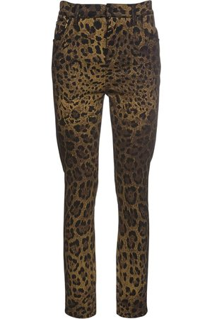 Dolce & Gabbana Denimjeans Mit Leopardendruck