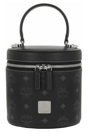 MCM Damen Umhängetaschen - Satchel Bag Cylinder Visetos Small Crossbody Bag black