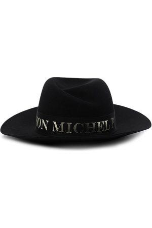 Le Mont St Michel Damen Hüte - Virginie logo-tape fedora hat
