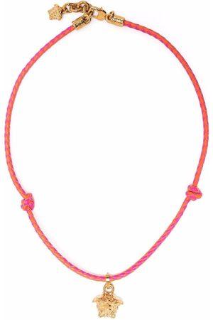 Versace Herren Armbänder - Geflochtene Halskette mit Medusa-Anhänger