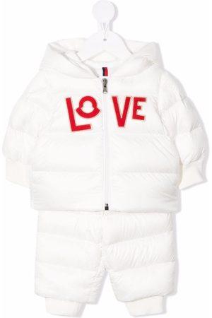 """Moncler Enfant Skianzüge - Schneeanzug mit """"Love""""-Patch"""
