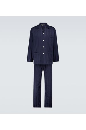 DEREK ROSE Pyjama Lingfield aus Baumwolle