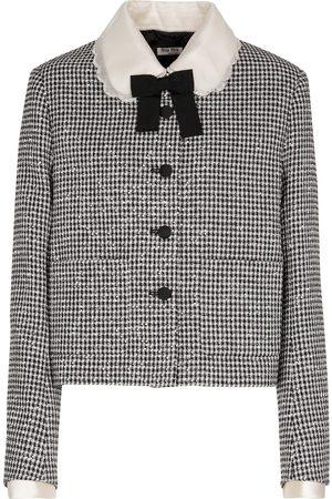 Miu Miu Verzierte Jacke aus einem Wollgemisch