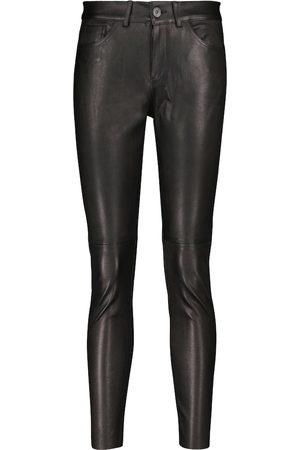 3x1 Mid-Rise Skinny-Hose aus Leder