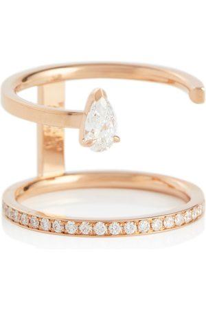 Repossi Damen Ringe - Ring Serti Sur Vide aus 18kt Rosé mit Diamanten